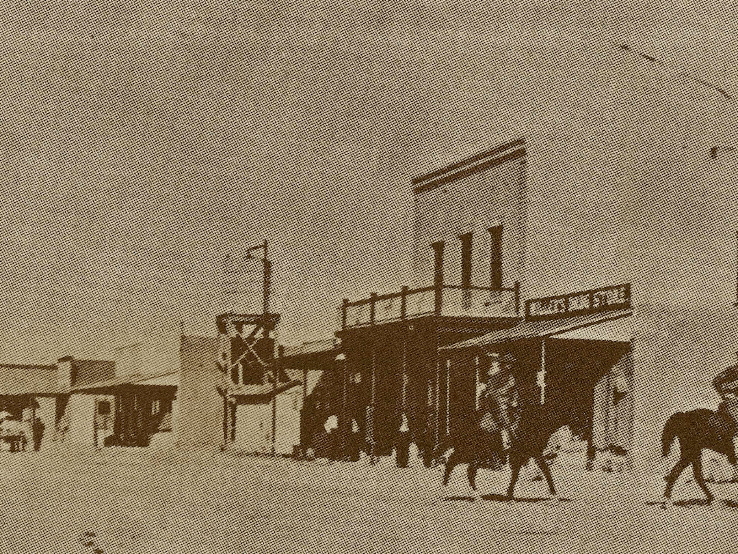 The border town of Columbus prior to the raid by Pancho Villa and his Mexican revolutionaries.