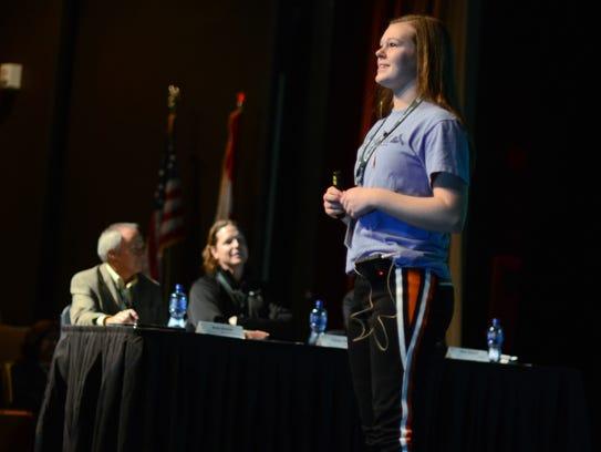Student competition winner Hally Uppleger, of Marine