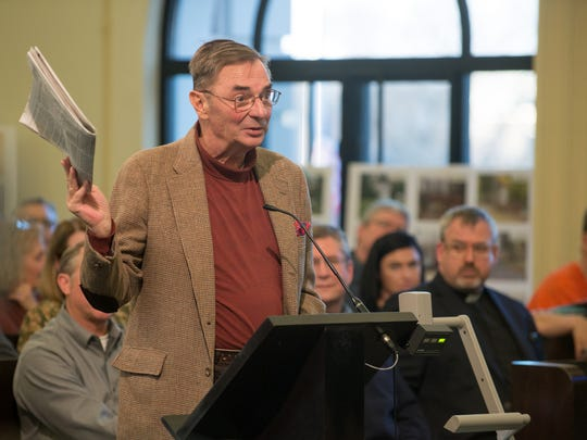 Pennfield Township resident Gordon Rosberg said there was no place for undocumented immigrants in Battle Creek and expressed his opposition to the city considering joining the Welcoming Michigan program.
