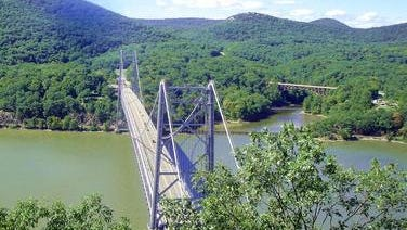 Authorities were searching near the Bear Mountain Bridge for a jumper.