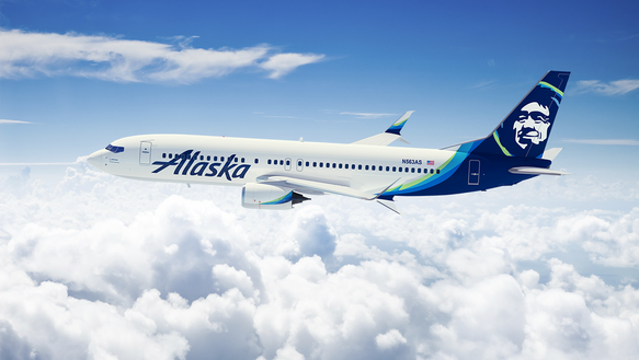 Alaska Airlines' new livery features an updated Eskimo