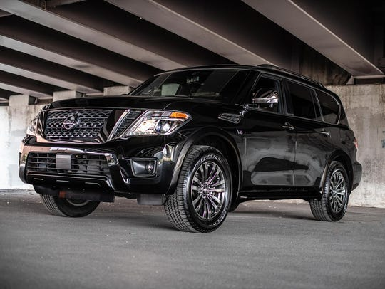 The Nissan Armada full-size sport utility, now in its