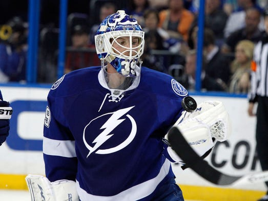 19. Anders Lindback, Tampa Bay Lightning. He gets the Game 1 start with Ben Bishop injured, but the Lightning won't go far if they have to rely on him for more than a game or two.