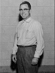Coach Gene Lumpkins led the 1958 Maidens to the district