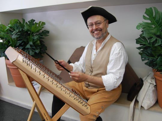 John Lionarons, a dulcimer player and historical re-enactor in Philadelphia, has played concert dates with Carolyn Hannan for 15 years.