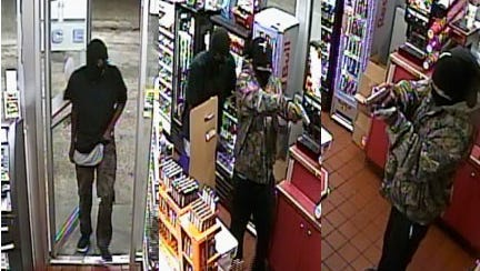 These two men allegedly robbed a convenience store on Hardy Street in July.