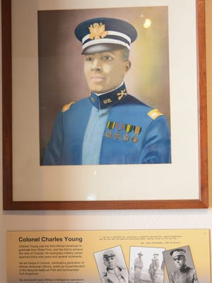 A portrait of Col. Charles Young at the Fort Huachuca Museum.