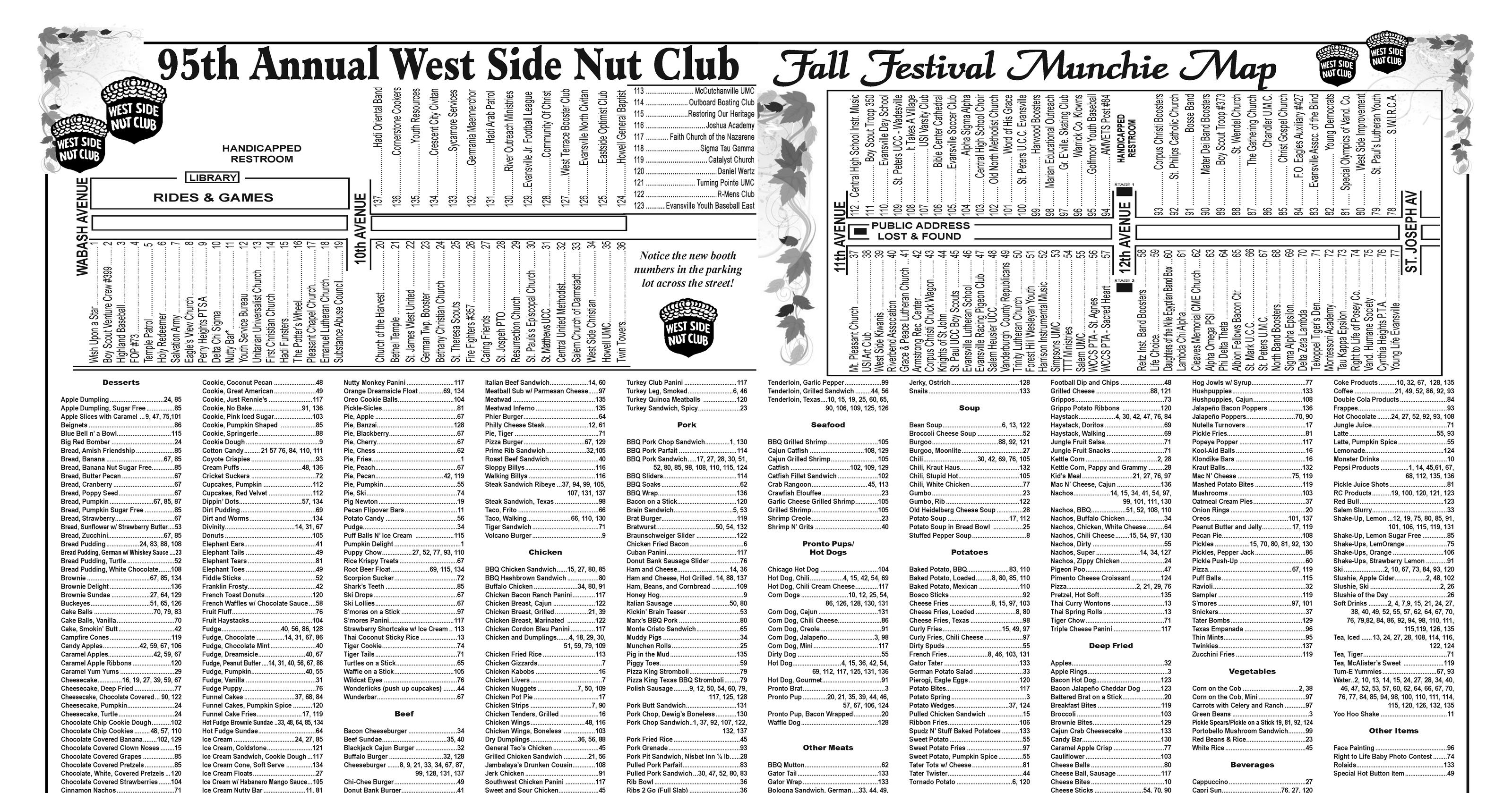 2016 Fall Festival Munchie Map released
