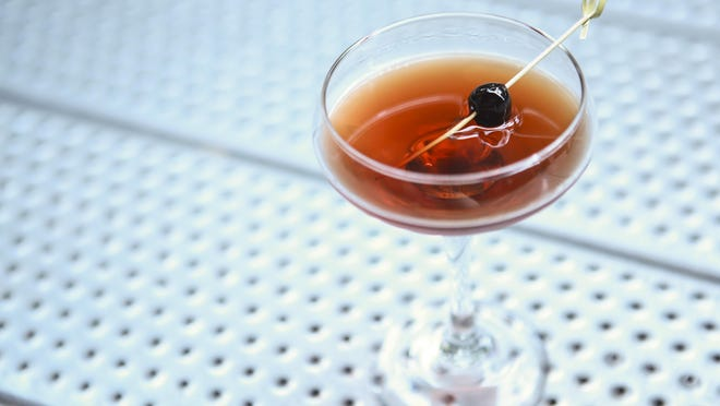The Manhattan cocktail at Down One Bourbon Bar. June 9, 2015