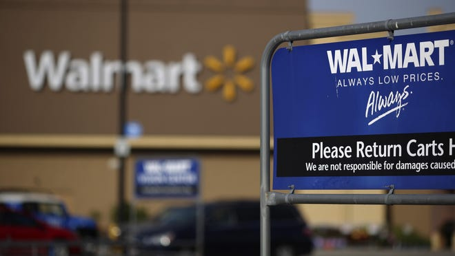 Walmart's nine Delaware locations will now accept payment through the company's smartphone app.