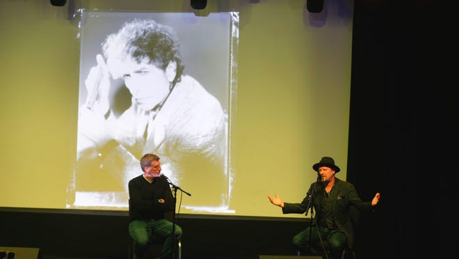 Robert Santelli, executive director of the Grammy Museum, and Danny Clinch, photographer and film director from Toms River, talk about Clinch's images of Bob Dylan at the House of Independents in Asbury Park during last year's festival.