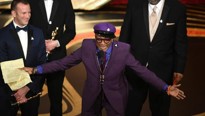 Spike Lee accepts the Adapted Screenplay award for 'BlacKkKlansman' onstage during the 91st Annual Academy Awards at Dolby Theatre on February 24, 2019 in Hollywood, California.