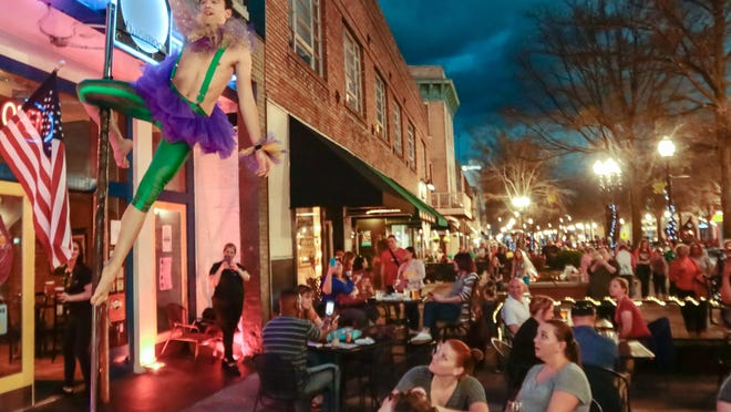 In warm weather months, Fourth Friday brings a variety of performers to downtown Fayetteville.