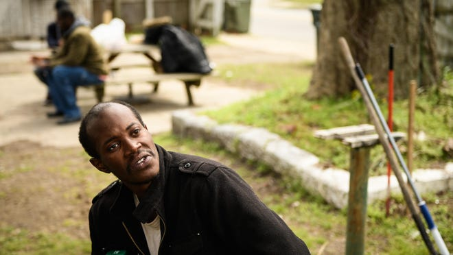 Flone Hall recently talks about dealing with the coronavirus as he sits behind Seth's Wish. The city is renovating the former Hope Center women's shelter and is looking for a group to operate it. A homeless advocate says it should be open to homeless men.