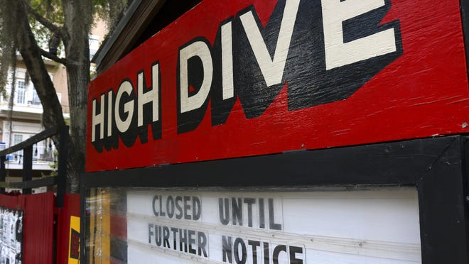 The High Dive music venue is shown on June 18, before it reopened to the public.