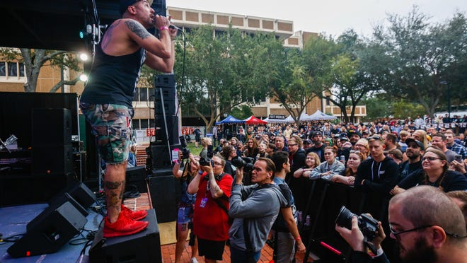 A Wilhelm Scream performs during the second day of Fest 18 in Bo Diddley Plaza on Nov. 2, 2019 in Gainesville. Fest officials announced Monday that the internationally known punk rock festival is postponed until October 2021.