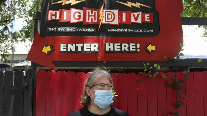 Pat Larvey, the manager of High Dive, stands outside of the venue in June. High Dive is set to host two streaming events tonight.
