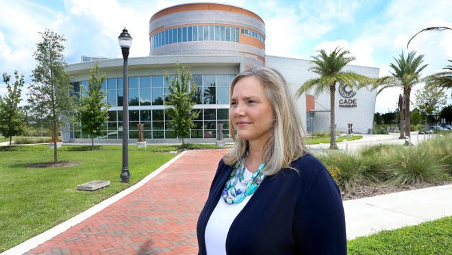 Stephanie Bailes, the executive director of the Cade Museum for Creativity and Invention, outside the museum in Gainesville on Thursday. The museum is one of the local non-profits that received a Paycheck Protection Program loan during the COVID-19 pandemic.