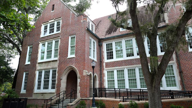 The outside of the newly renovated Norman Hall at the University of Florida College of Education in Gainesville on July 17. Researchers at the College of Education have created a database to track reopening plans for each school district in Florida.