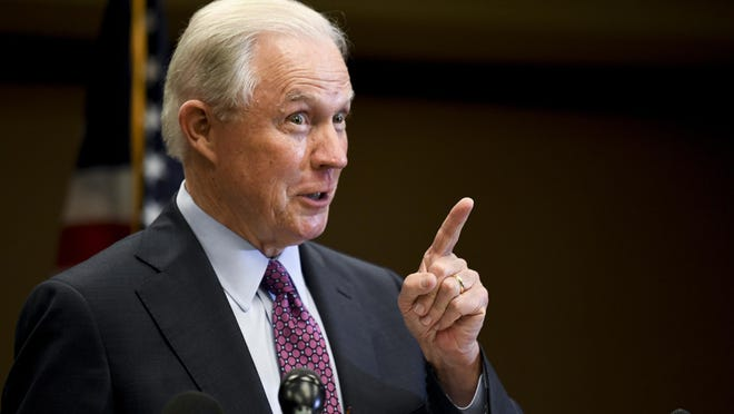 Former U.S. Attorney General Jeff Sessions delivers his concession speech after results are announced in the Alabama GOP primary runoff election, Tuesday, July 14, 2020, in Mobile, Ala.