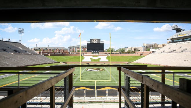 Faurot Field is seen from the South End Zone complex at Memorial Stadium last year.