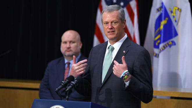 "Gov. Charlie Baker, during a press conference at the State House in Boston on Thursday, June 25, 2020, said: ""I wish we had the answer today, but we don't."""