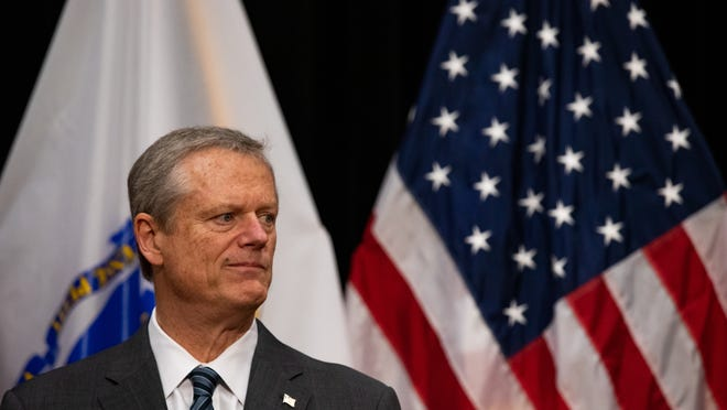 Gov. Charlie Baker held a State House news conference Wednesday, June 24, 2020, to discuss a report on the deaths of at least 76 veterans with COVID-19 at the Holyoke Soldiers' Home.