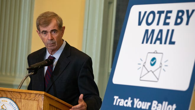 Massachusett Secretary of State William Galvin projected a record turnout in this year's election on Monday, which could eclipse the 3.3 million ballots cast in 2016.
