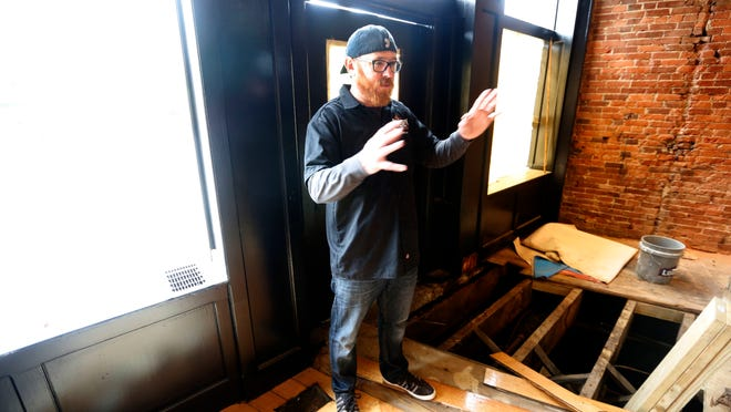Jay Blevins, director of Owner/Operations for Derby City Spirits, gave a tour of the new distillery on Baxter Avenue. April 20, 2015.
