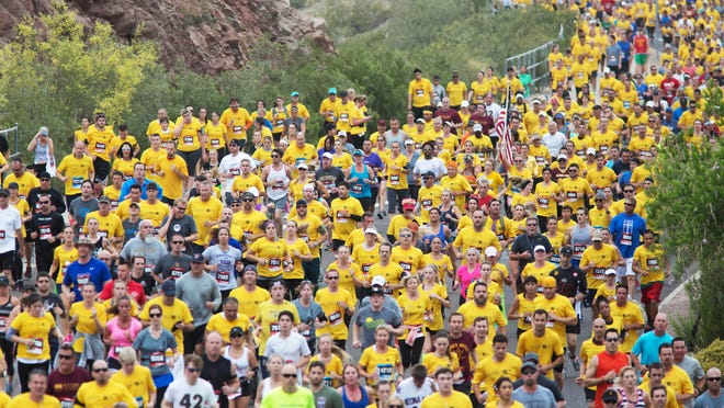 """Pat's Run on April 25 will be capped at 28,000 runners and walkers around Sun Devils Stadium in Tempe. But the event continues to grow through """"Shadow Runs"""" and """"virtual runs"""" across the country."""