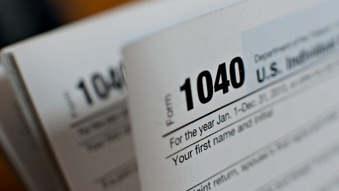 A 1040 Individual Income Tax form.
