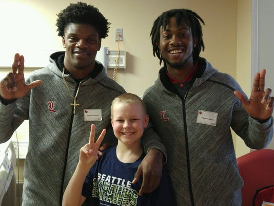 Lamar Jackson Emonee Spence Hospital Visit