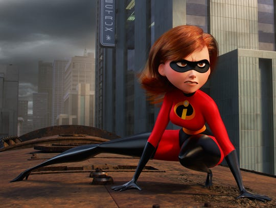 Elastigirl, also known as Helen Parr, voiced by Holly