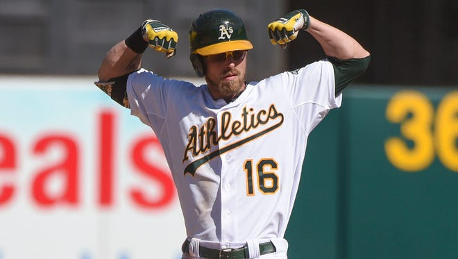 Josh Reddick and the A's are fighting for a playoff berth.