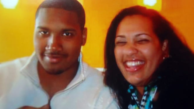 A photo of Muriel Daniel with her son Jyrel, taken several years ago. Jyrel was midway through a five year MBA program at Johnson and Wales University in Rhode Island when he was severely injured in a car accident while home for his brother's high school graduation in June of 2016. Muriel Daniel feels the city of New Rochelle bears some responsibility for the crash, in which a car traveling at a high rate of speed on Lincoln Ave struck the car Jyrel was a riding in.