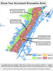 Accomack County Evacuation Zone Map