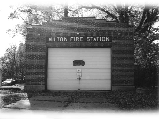 Milton's original fire station. The single bay building