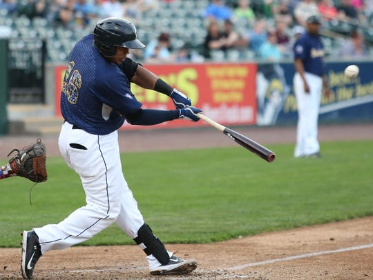 Isaias Tejeda belted his team-leading sixth homer of