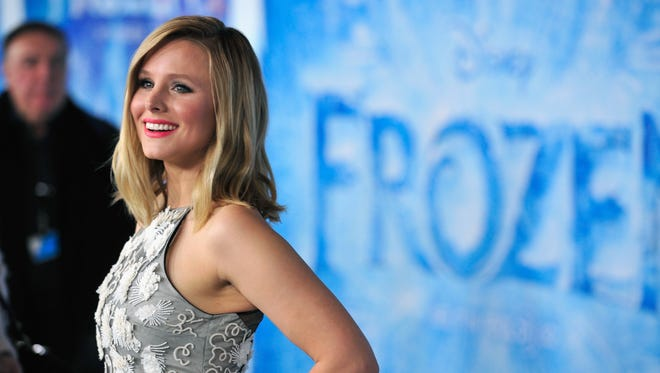 "Actress Kristen Bell attends the premiere of Walt Disney Animation Studios' ""Frozen"" at the El Capitan Theatre on November 19, 2013 in Hollywood, California."