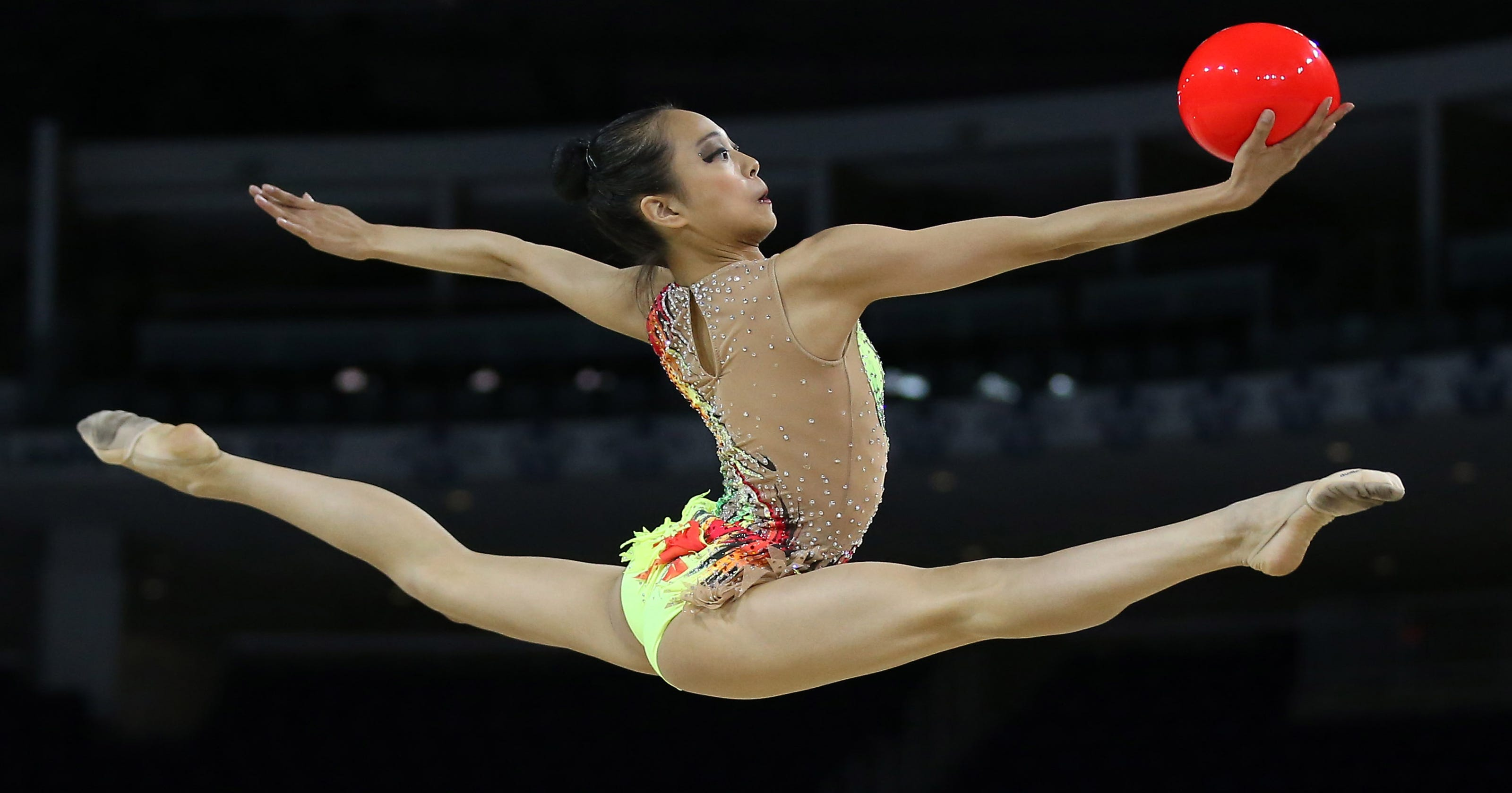 rhythmic gymnast shows sport is more than prancing around