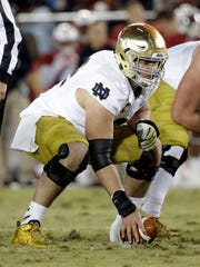 Notre Dame center Nick Martin during an NCAA college football game against Stanford  Saturday, Nov. 28, 2015, in Stanford, Calif. (AP Photo/Marcio Jose Sanchez)