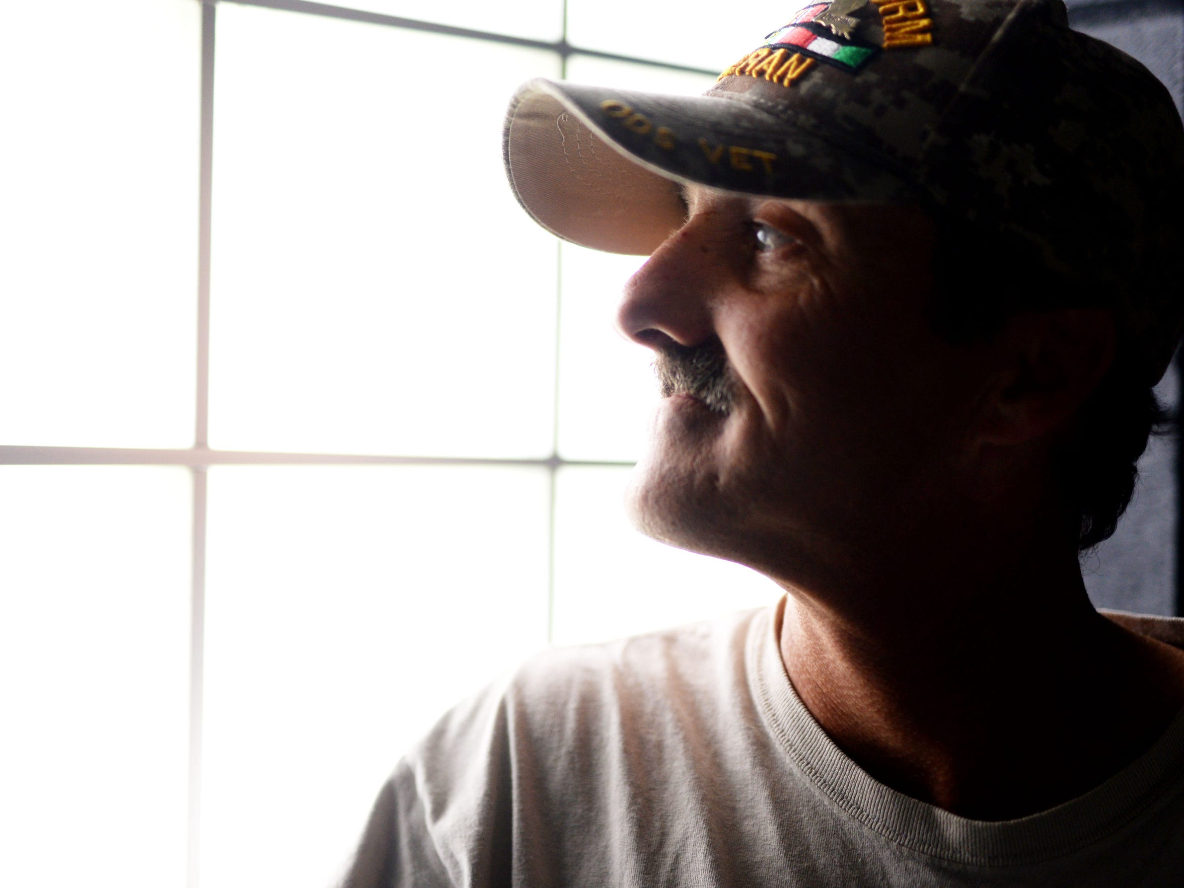 John Parker is a United States veteran who is staying at the Salvation Army in Shreveport.