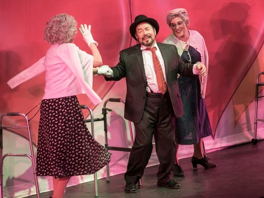 """Leo Cortez as Max Bialystock in The Western Stage production of """"The Producers"""""""