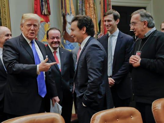 Donald Trump, Mark Fields, Sergio Marchionne, Jared Kushner.