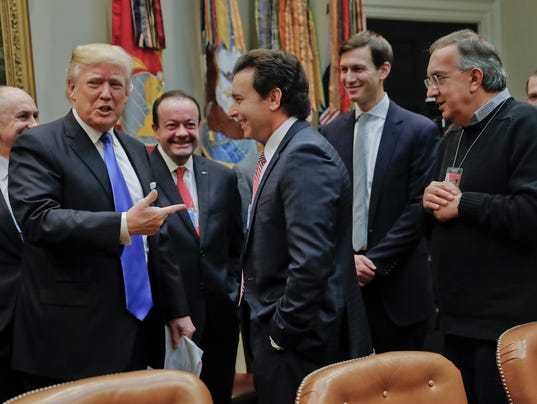 Donald Trump, Mark Fields, Sergio Marchionne, Jared Kushner.
