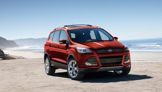 This undated photo provided by Ford shows a 2015 Ford Escape, one of the used Ford and Lincoln vehicles available through Canvas, a car subscription service created by Ford and now operating in Los Angeles and San Francisco. Car subscription services promise a hassle-free way to get a car, sometimes including unlimited opportunities to switch vehicles.