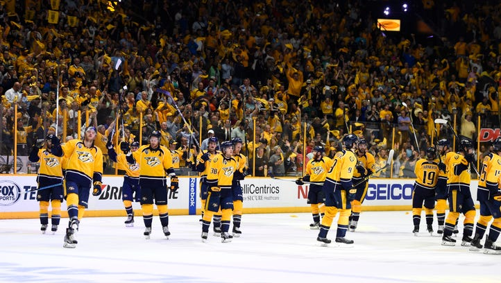 The Predators will play two games on national television next season.