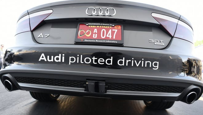 Audi invited a group of journalists to ride in a self-piloting A7 prototype from Silicon Valley to the Consumer Electronics Show in Las Vegas in 2015.