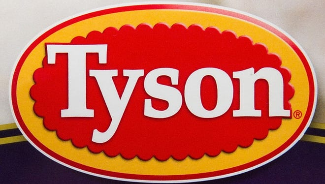 The Tyson Foods Inc. logo is seen on a package of prepared food in San Francisco, California, U.S., on Friday, July 29, 2011.