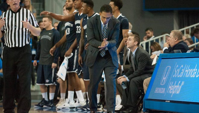 Monmouth University, shown here on Nov. 13 at UCLA, opens play at the AdvoCare Invitational on Thursday, but showed up in Florida for the event on Tuesday